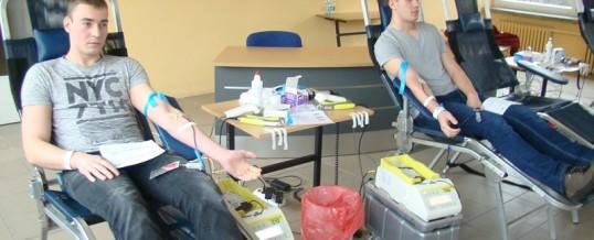 Akcja honorowego krwiodawstwa w ZSB